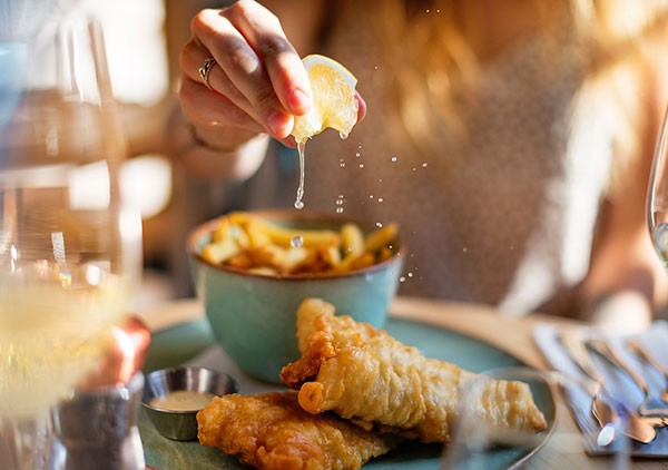 The fish and chips at SeaBreeze on Bree Street.