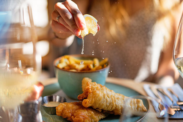 The fish and chips at SeaBreeze is one the seafood offerings at this Bree Street restaurant.