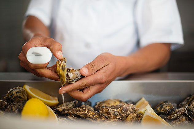 Seafood options like oysters also come dressed, in various guises, at this Cape Town restaurant on Bree Street