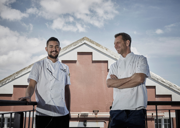 Chef Freddie Dias and Luke Dale-Roberts of The Pot Luck Club. Photo supplied.