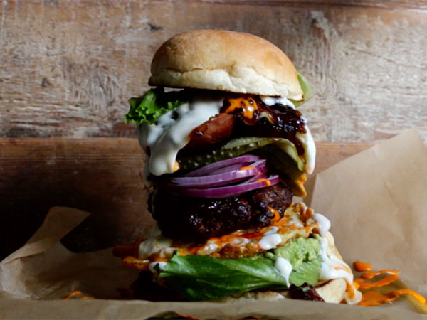 Watch: How to make the biggest burger of your life