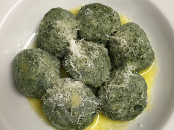 The gnocchi di ricotta e spinaci at Pane e Vino. Photo courtesy of the restaurant.