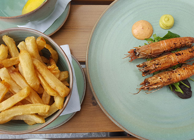 The langoustines with garlicky aioli, and a side of chips for good measure. Photo by Nikita Buxton.