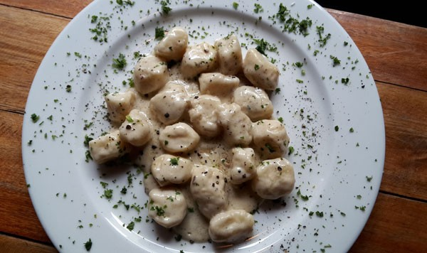 Home-made gnocchi from The Cousins. Photo courtesy of the restaurant.