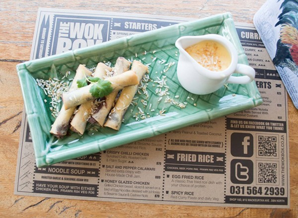 The Nutella spring rolls at The Wok Box. Photo supplied.