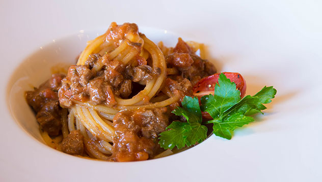 Hand-cut beef ragout – one of the dishes on 95 at Parks's new menu. Photo supplied.