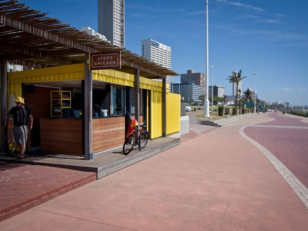 The stretch of promenade makes the perfect backdrop for lunch at Afro's. Photo supplied.