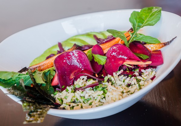 A fresh vegan bowl from Artichoke at The Midlands Kitchen. Photo supplied.