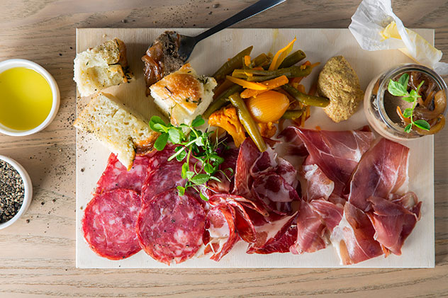 The charcuterie board. Photo supplied.