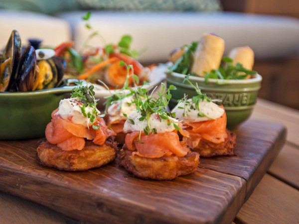 Light tapas bites at Bascule Bar. Photo supplied.