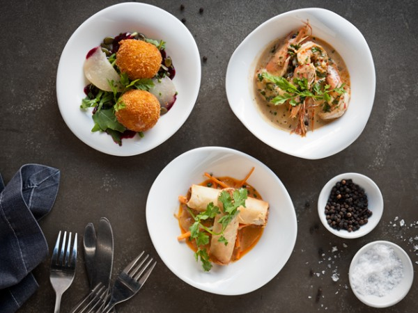 A trio of tapas dishes at Bistro Sixteen82. Photo supplied.