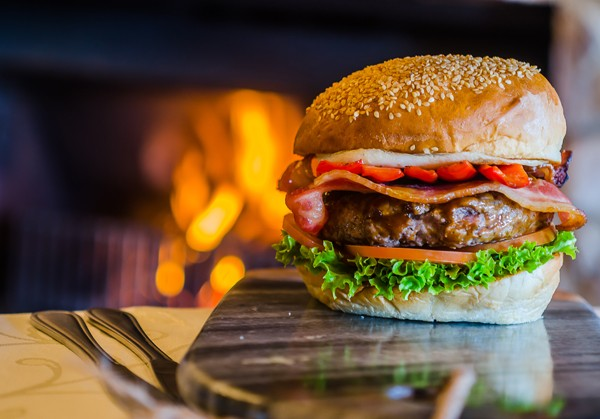 A burger by the fire from The Burger and Butcher at The Midlands Kitchen. Photo supplied.