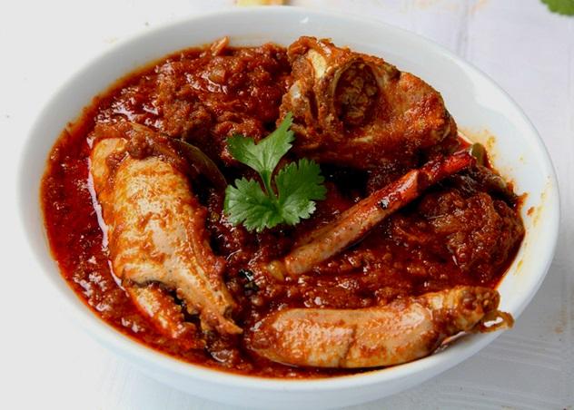 Capsicum crab curry