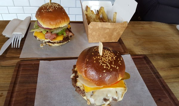 Easy Tiger's cheesy burgers. Photo supplied.
