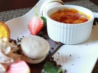 Creme brulee at Fleisherei Bistro by Toni Muir