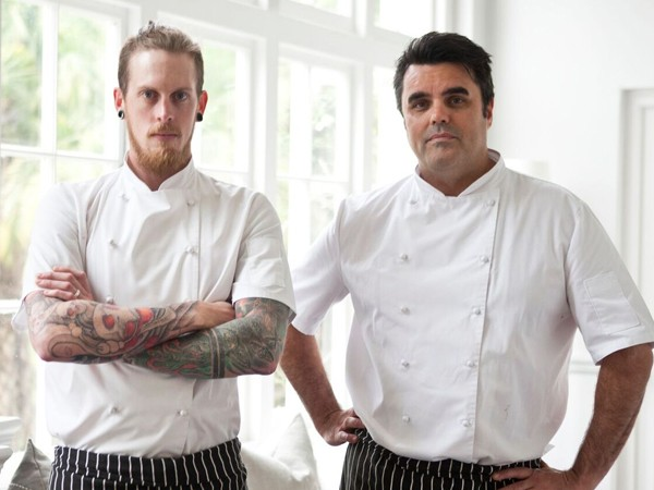 Chef Ashley Moss and Peter Templehoff of Greenhouse Restaurant. Photo supplied.