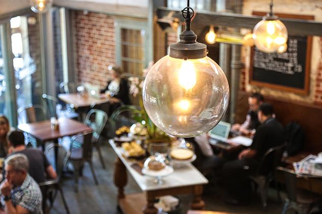 Interior of Bellevue Cafe