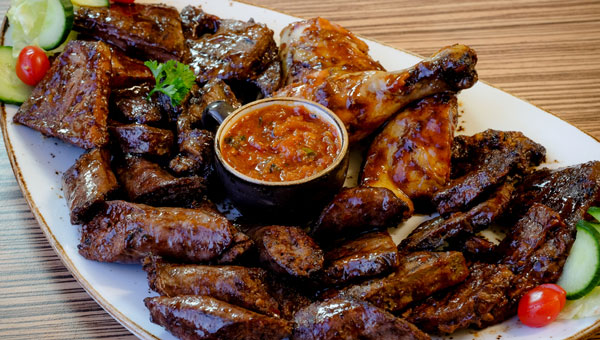 A platter from Mash Braai House. Photo by Patrick Furter.