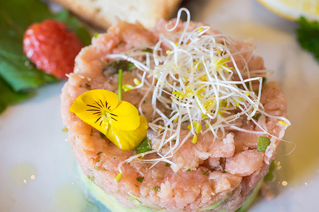 The salmon tartare. Photo supplied.