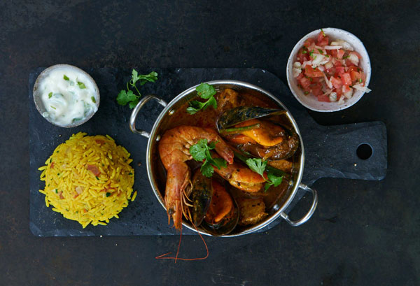 Cape Town Fish Market's Malay seafood curry. Photo supplied.