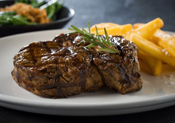 A rib-eye steak at The Hussar Grill. Photo supplied.