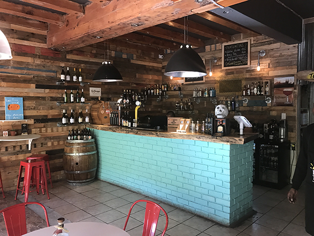 The bar at Baha Taco