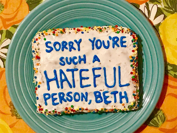 Troll cakes give new meaning to 'eating your words'
