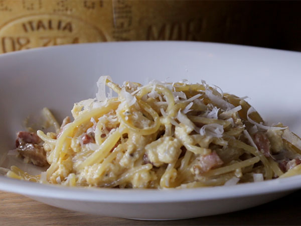 Watch: How to make spaghetti carbonara with Parmigiano Reggiano