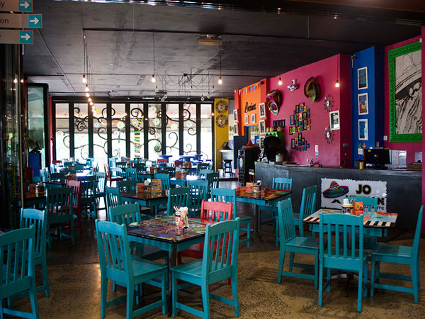 The colourful interior at Jo Mexican. Photo supplied.