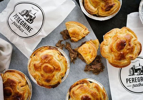 Meaty pies from Peregrine. Photo supplied.