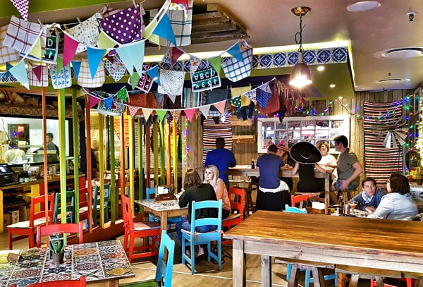 The vibrant interior at VIVA Mexican Kitchen & Bar. Photo supplied.