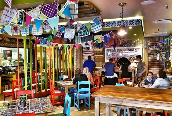 The vibrant interior at VIVA Mexican Kitchen & Bar. Photo supplied.