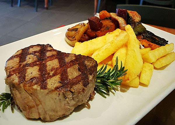 The filet mignon at The Eatery Woodfired Grill. Photo courtesy of the restaurant.