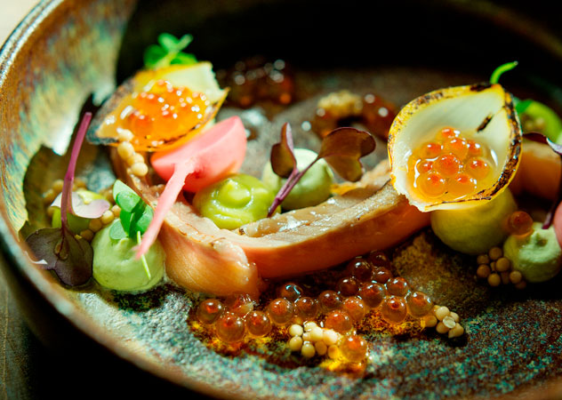 A dish from the Spring Menu at Foxcroft. Photo by Claire Gunn
