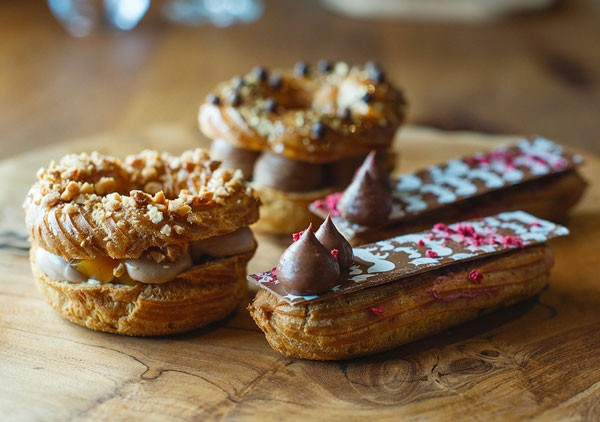 The delectable éclairs beside Foxcroft's Paris-Brests. Photo courtesy of the restaurant.
