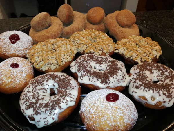 A few types of doughnuts available from D's Nuts. Photo supplied.