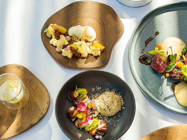 Some of the dishes at La Petite Colombe. Photo by Claire Gunn Photography.