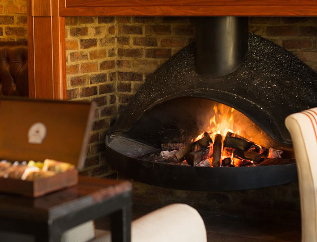 A fireplace keeps things cosy on icy, winter days. Photo supplied.