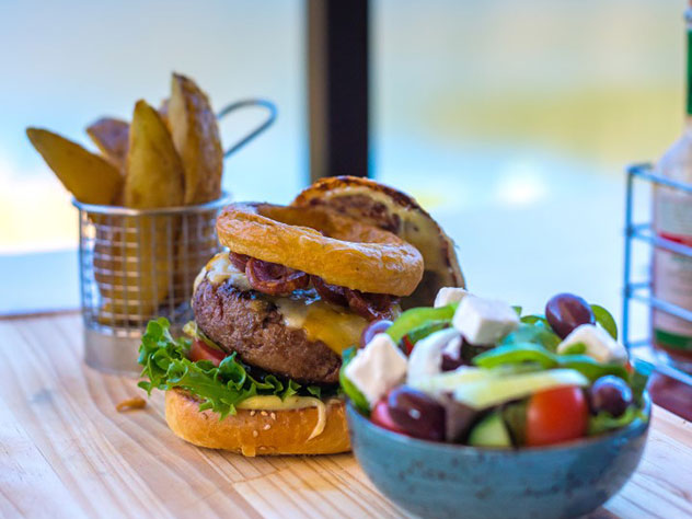 Burgers are exceptional at Oevermeer. Photo supplied.