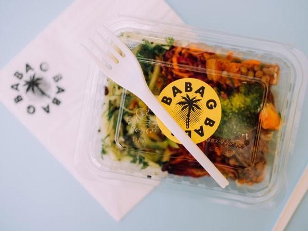 A takeaway salad box at Baba G. Photo by Candice Bondi