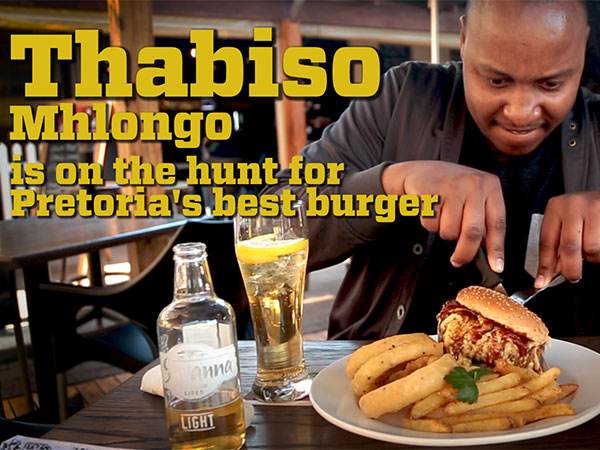 Watch: Comedian Thabiso Mhlongo goes in search of Pretoria's best burger