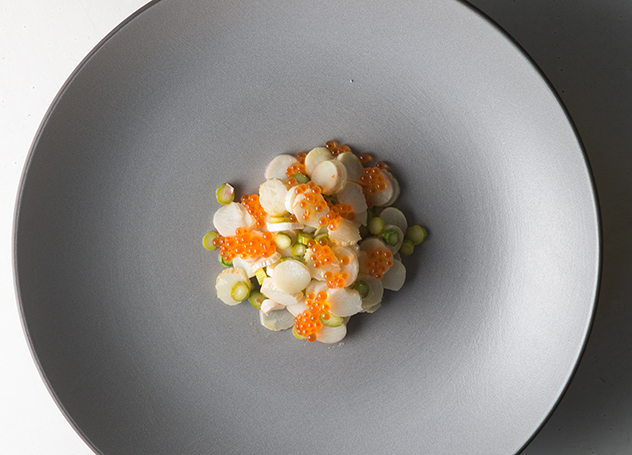 The Kitchen_Asparagus, crayfish, amasi, trout roe