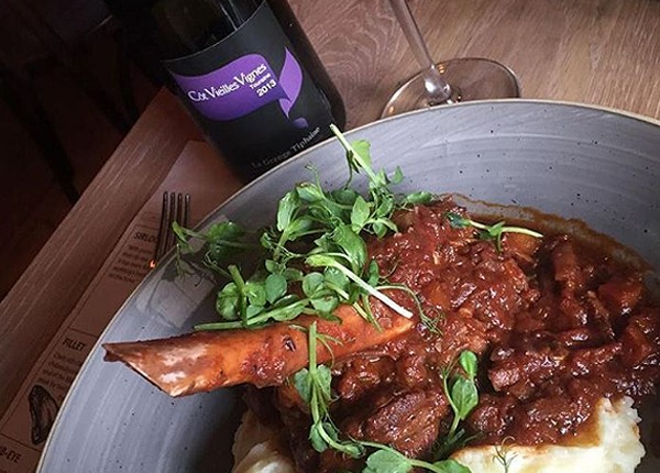 The lamb shank at The Fatbutcher. Photo supplied.