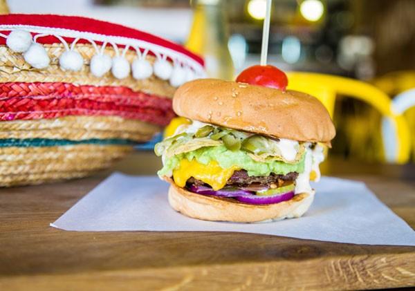 The El Mexicano burger at Union Square. Photo courtesy of the restaurant.
