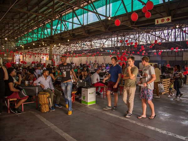 Market at The Sheds. Photo by Eben Liebenberg.
