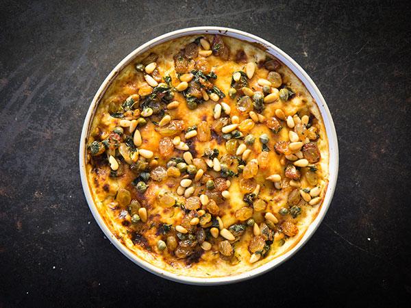 luke dale roberts cauliflower mac and cheese with sultana salsa