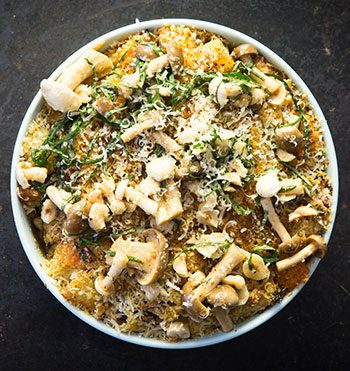 reuben riffel's butternut bacon and mushroom mac and cheese