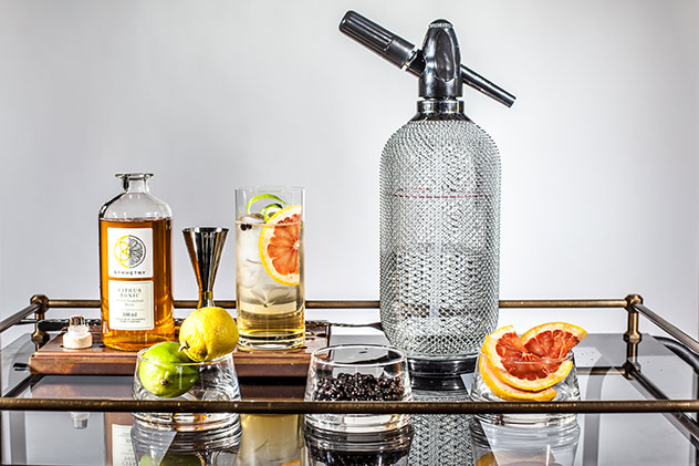 Geometric Gin is a new locally made gin, distilled from grapes. Photo supplied.