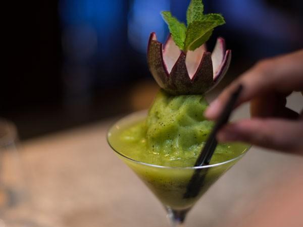 A slushy coconut cocktail at SETA. Photo supplied.