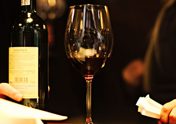 The waiters are knowledgeable about their large wine selection. Photo courtesy of the restaurant.